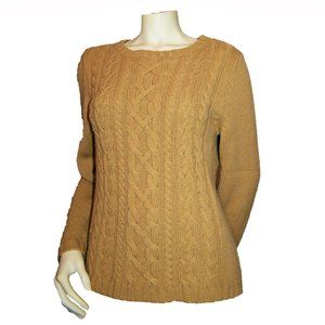New York & Company Tan Cable Knit Sweater